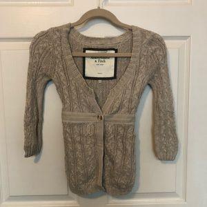 Abercrombie & Fitch Tan Sweater w/Tie